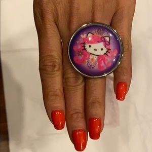 Tarina Tarantino x Hello Kitty large ring - multi